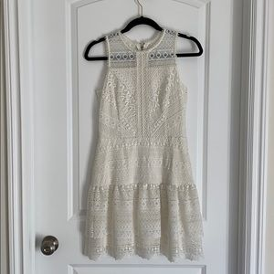 Parker white lace dress